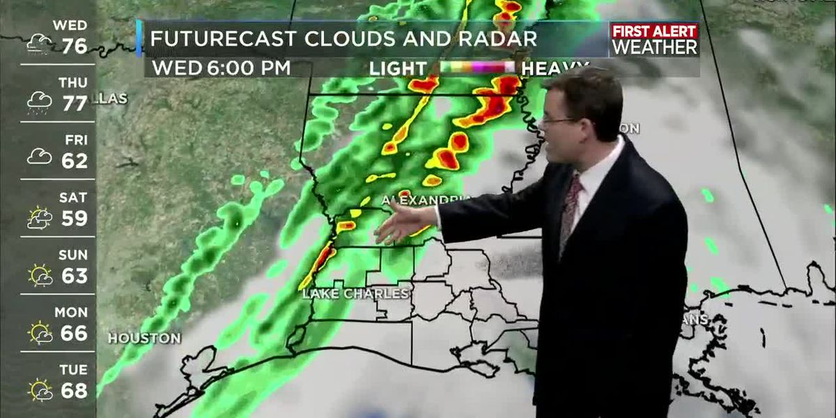 FIRST ALERT FORECAST: Very windy today as afternoon storms approach from the West