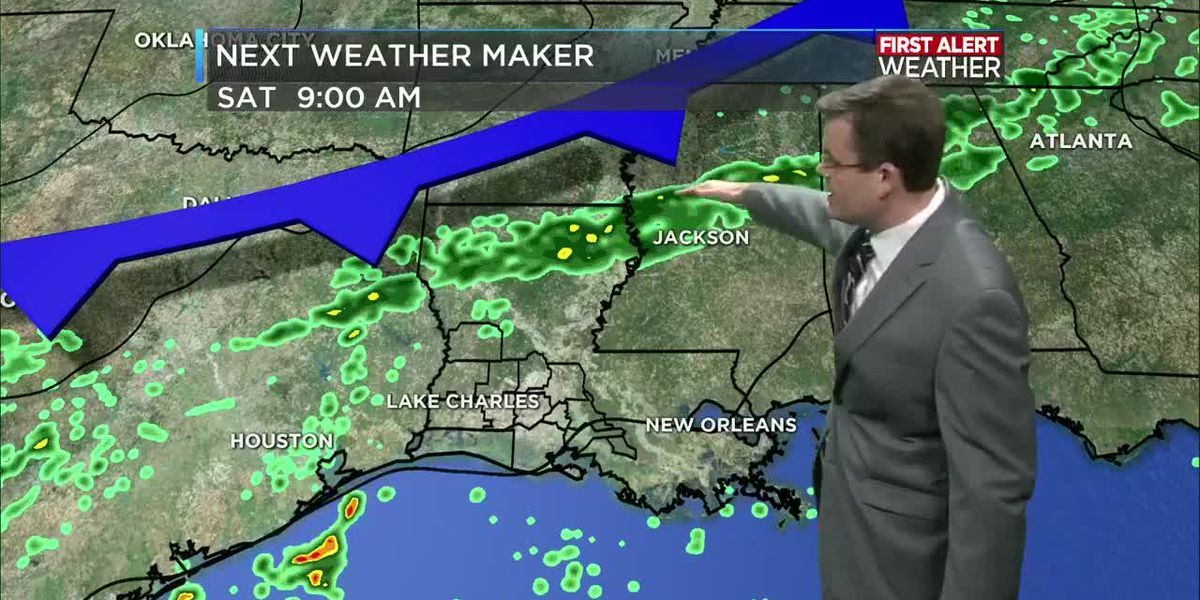 FIRST ALERT FORECAST: Warmer today; a few showers Saturday