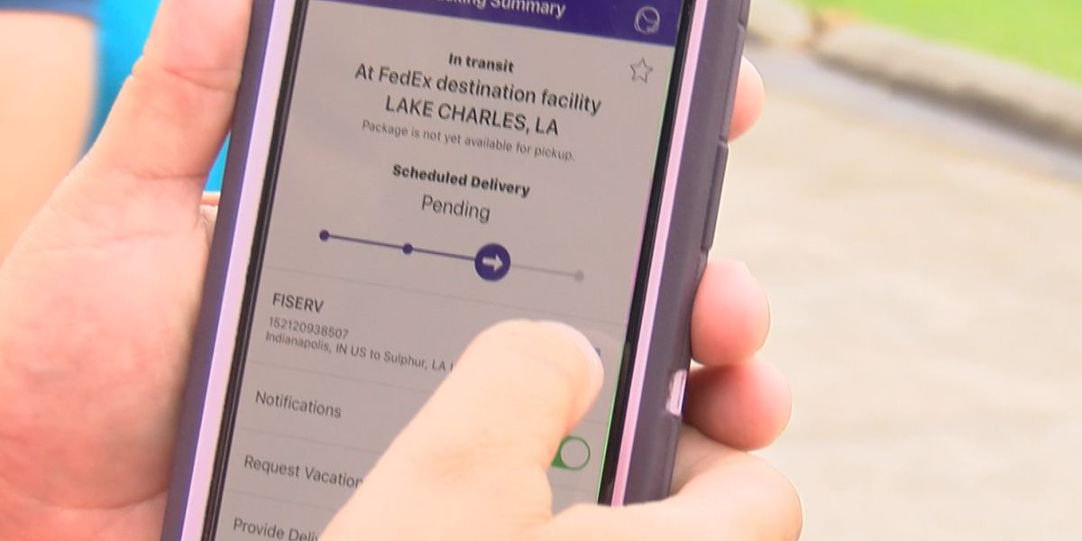 FedEx tracking states 'pending' for SWLA residents