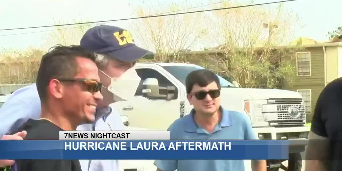 Sen. Kennedy tours Laura damage in SWLA