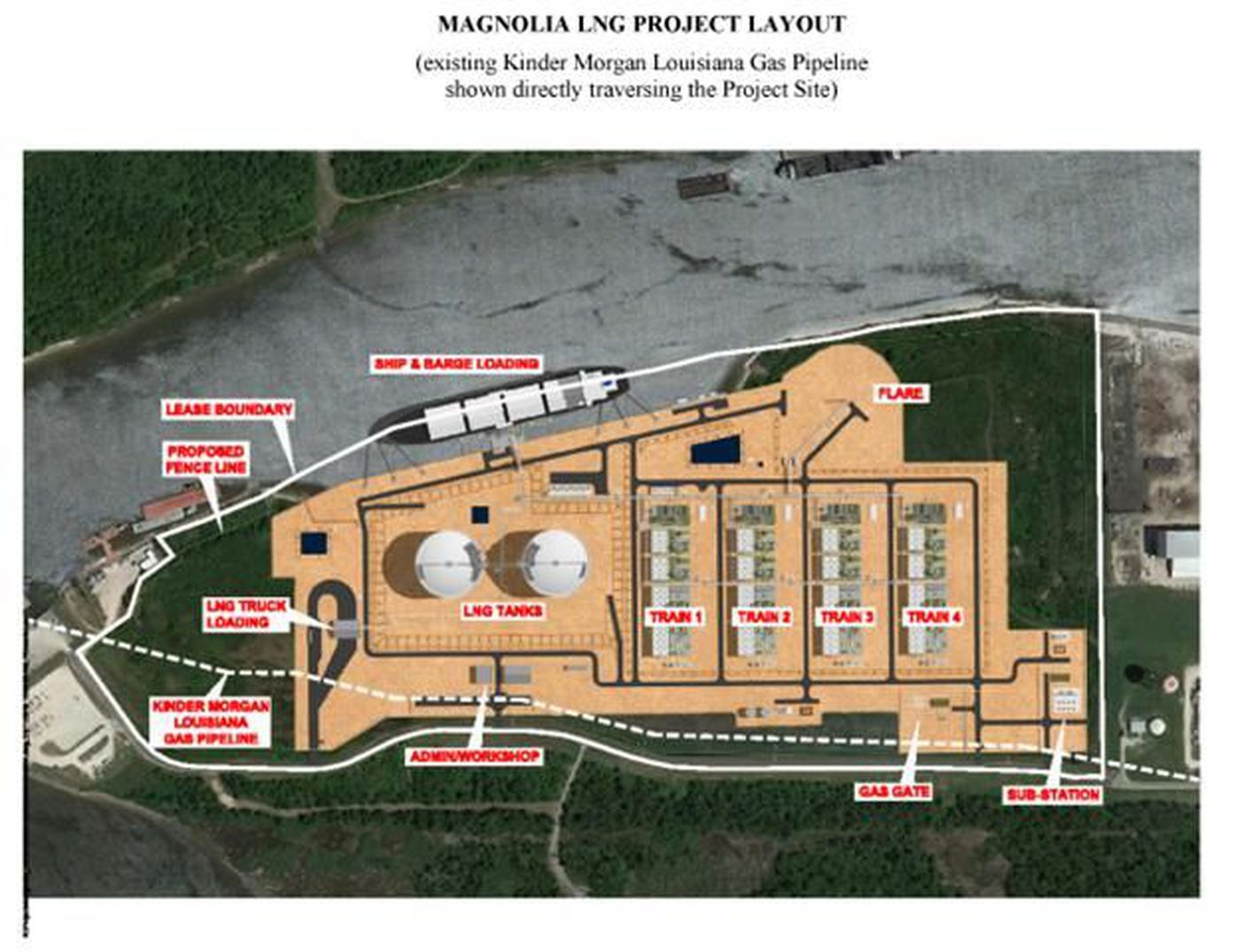 Magnolia LNG signs agreement with Kinder Morgan Louisiana Pipeline