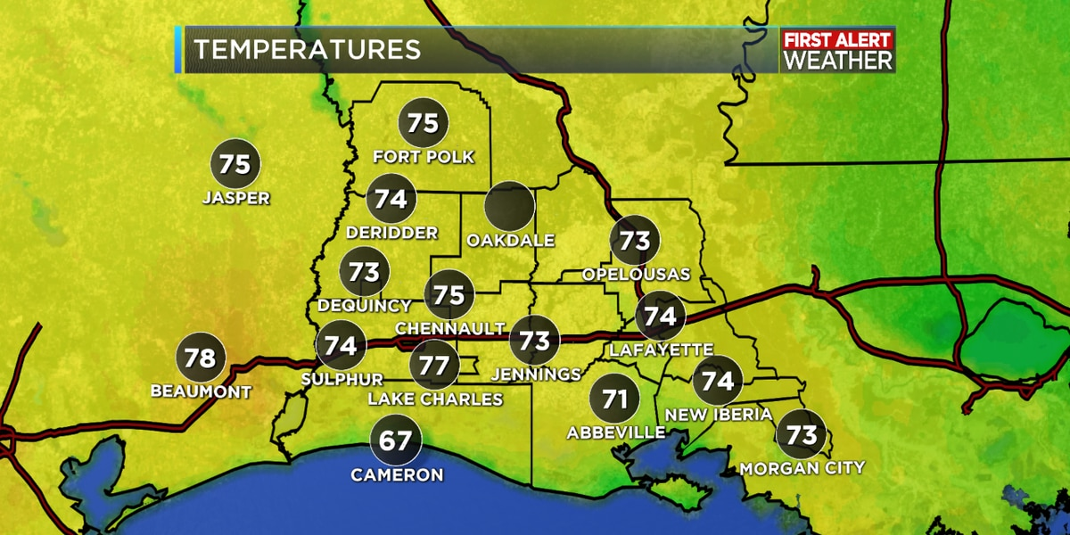 FIRST ALERT FORECAST: Tracking a cold front for Friday, clearing into the weekend