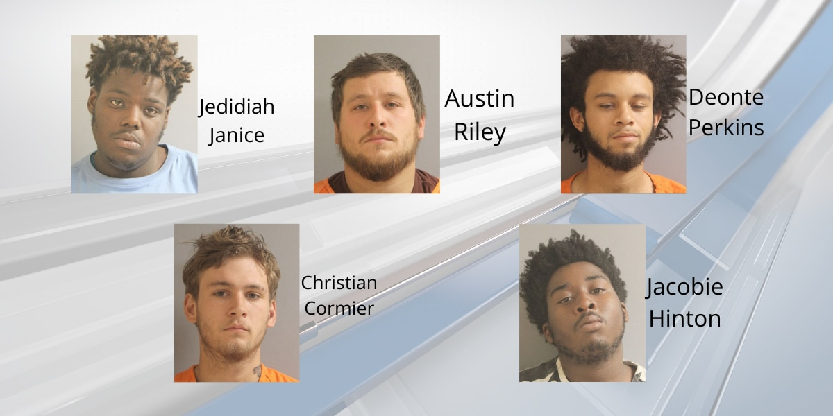 Five arrested in connection to shooting in Sulphur on Sunday