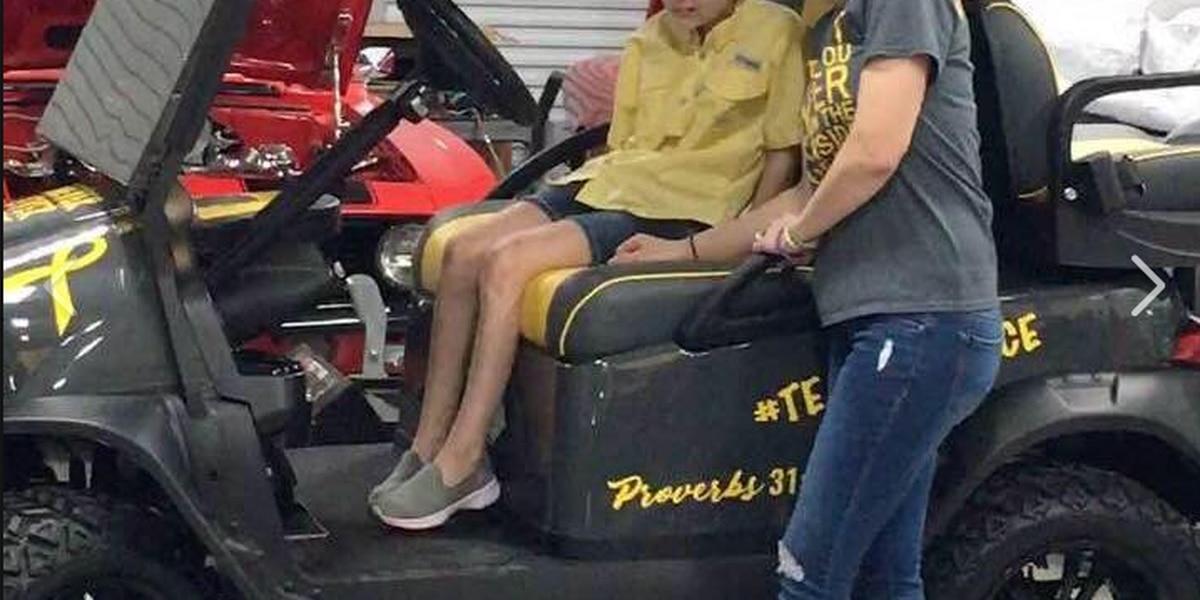 Cancer survivor receives a golf cart