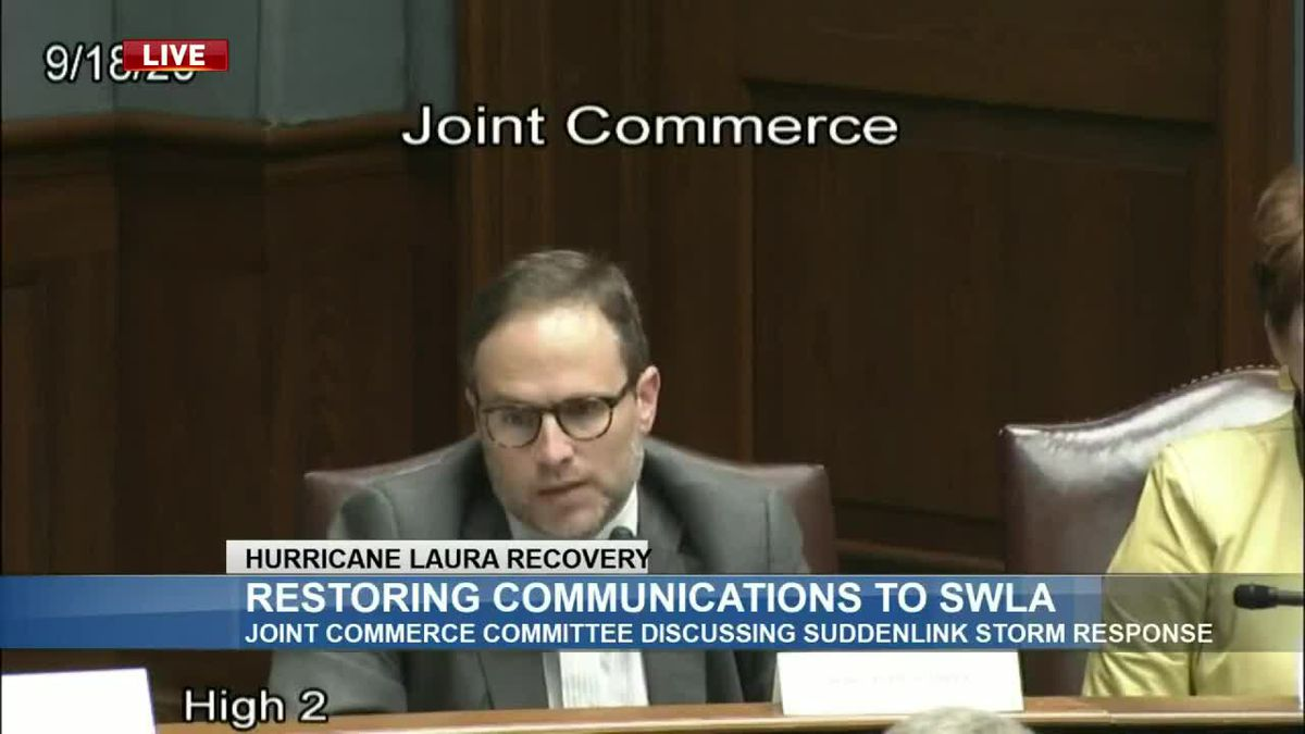 State lawmakers grill Suddenlink executives on response to Hurricane Laura