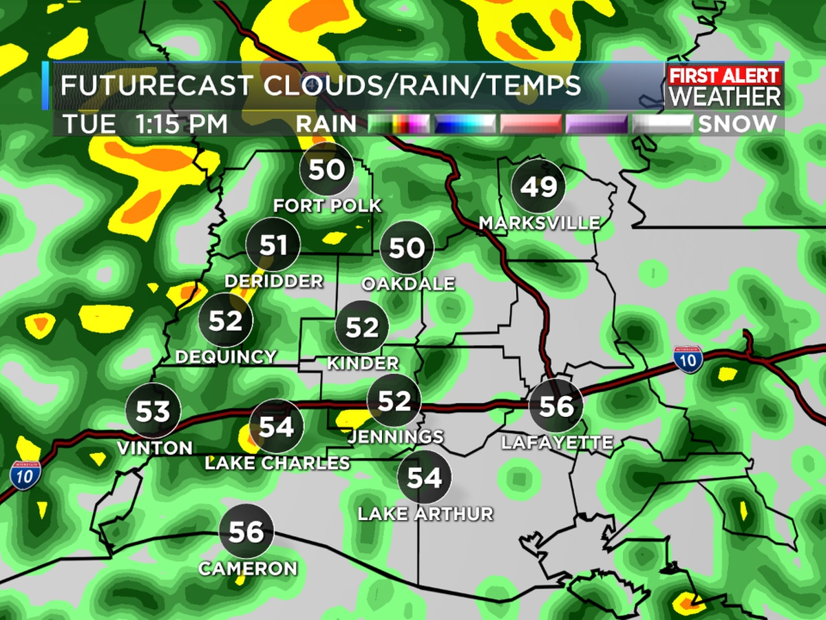 FIRST ALERT FORECAST: Blustery and colder today as rain lingers into the evening