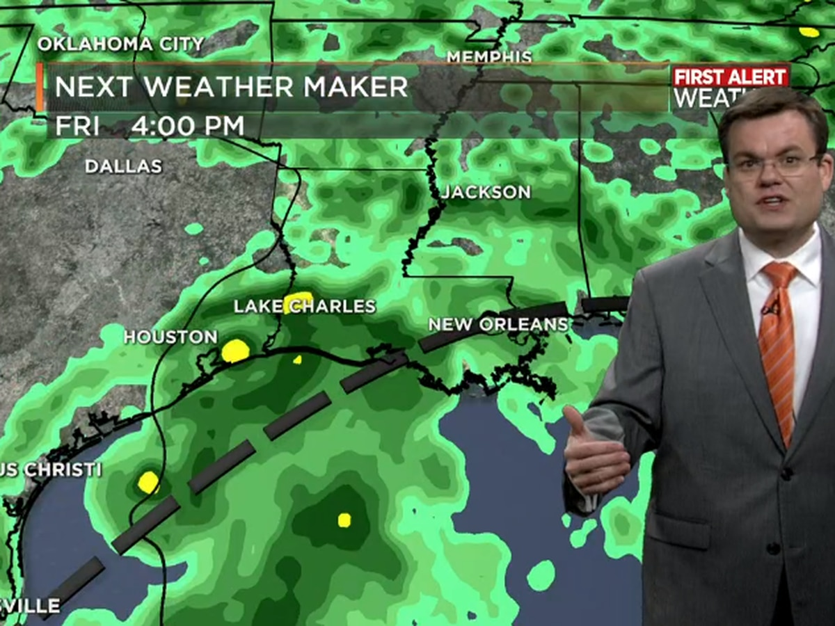 FIRST ALERT FORECAST: Repeat forecast today; even higher rain chances later this week