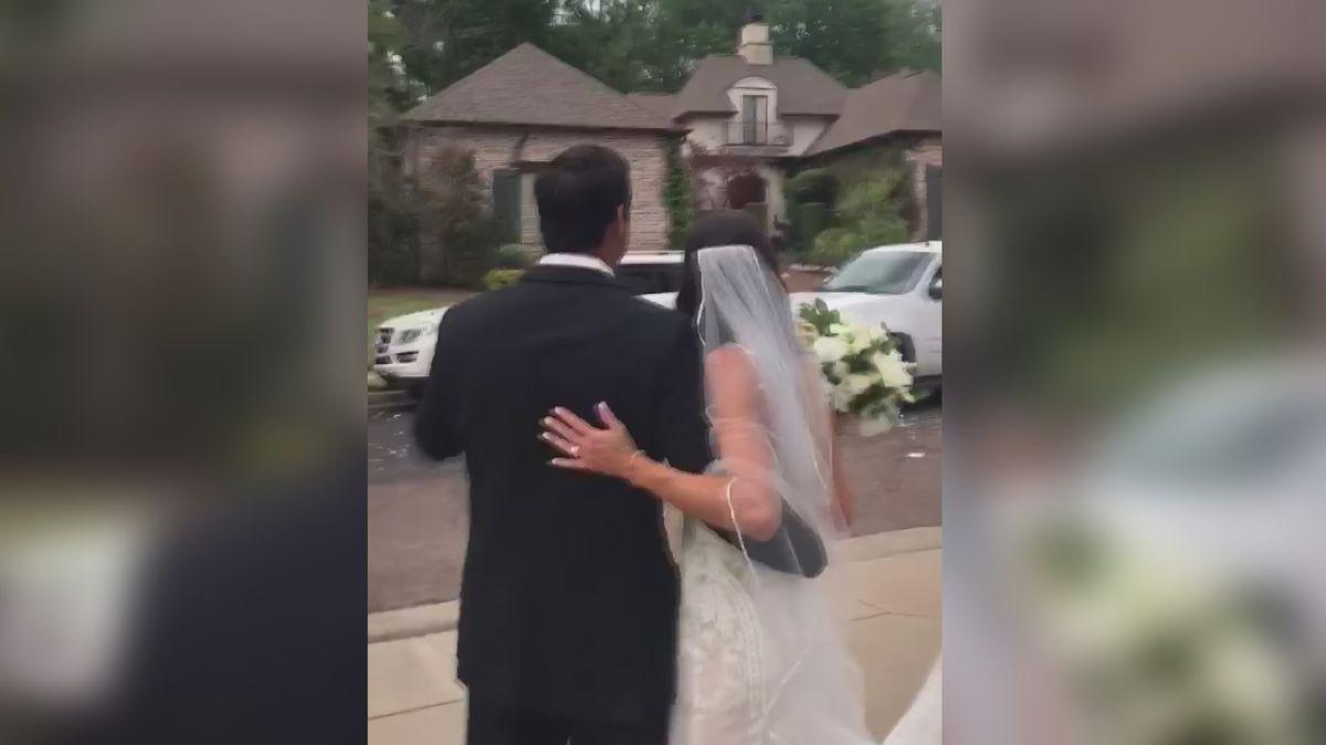 Couple Has Backyard Wedding Due To Coronavirus Pandemic