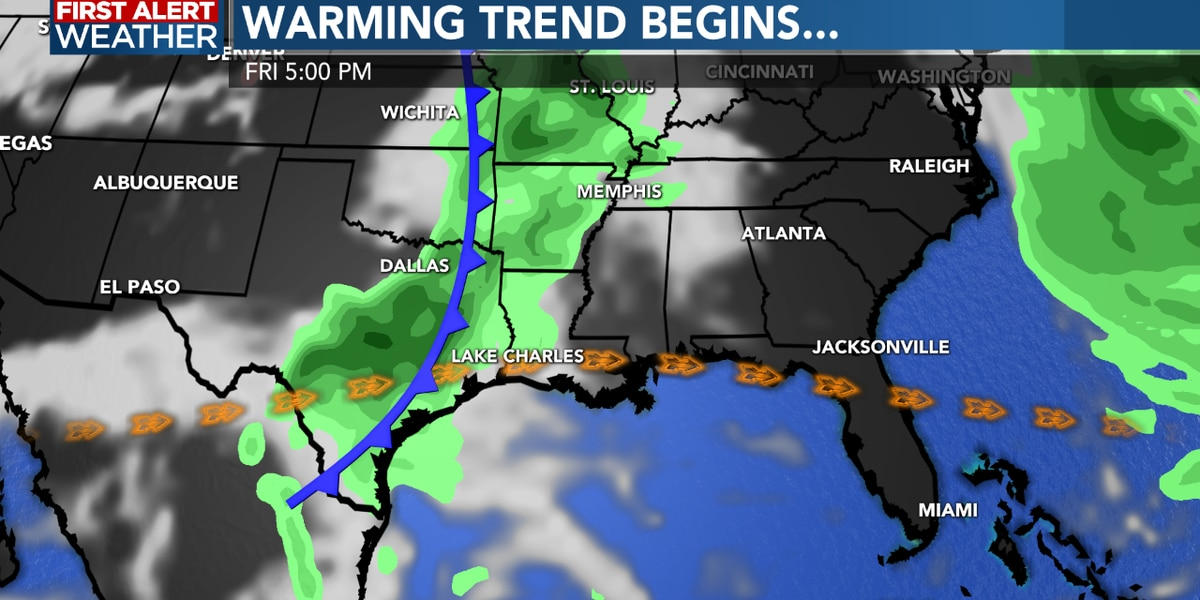 FIRST ALERT FORECAST: Cooler weather here for the next few days…