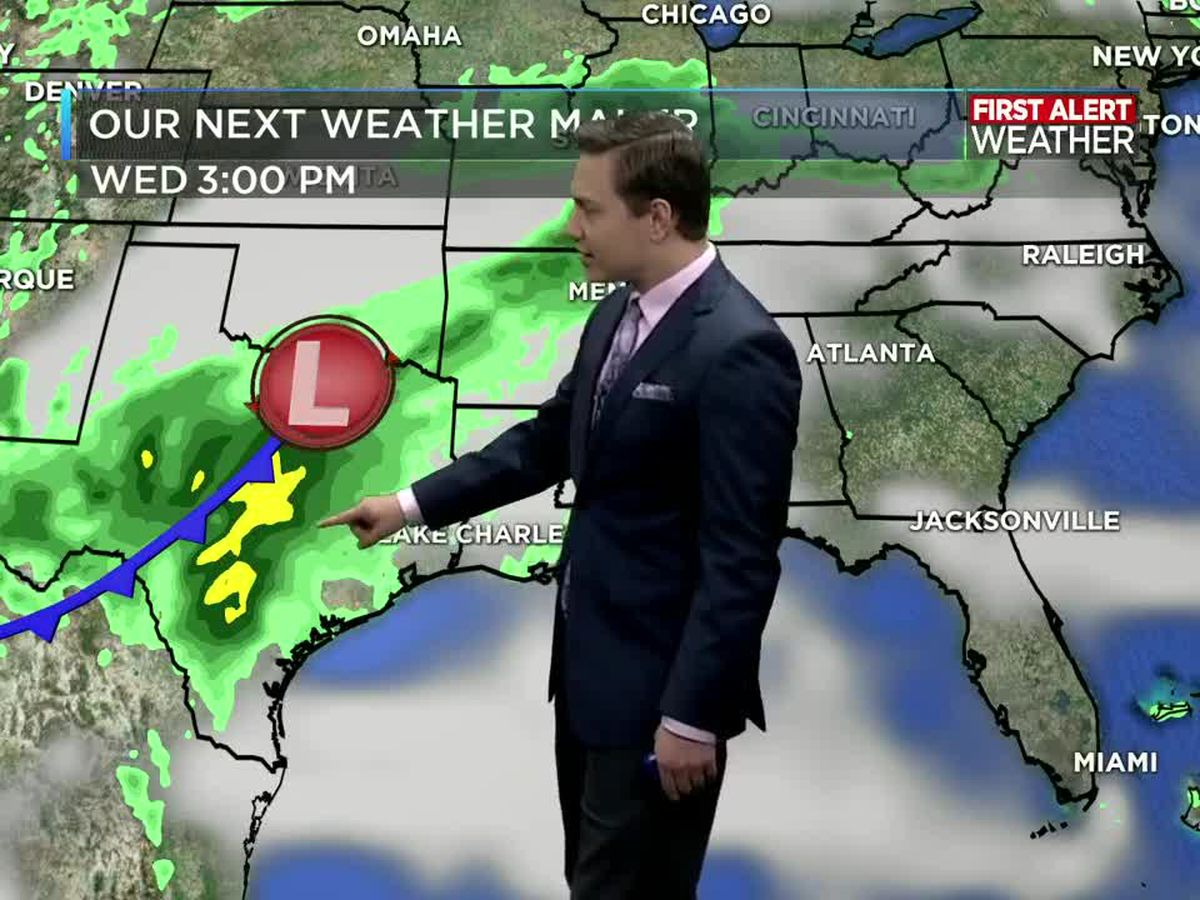 First Alert Forecast: Rain chances increase later this week with our next storm system