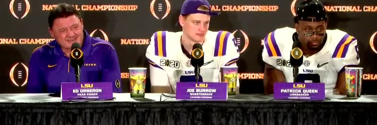 FULL POSTGAME VIDEO: Coach O, Joe Burrow, and Patrick Queen talk LSU's dominant victory over Clemson