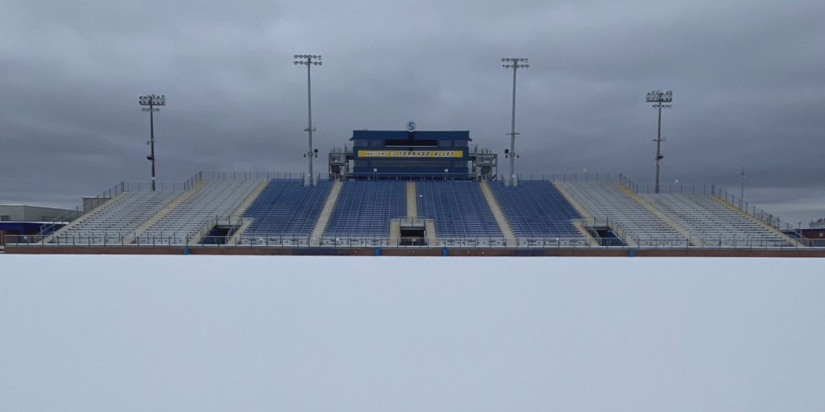 SNEAUX DAY: Southwest Louisiana sports fields blanketed with snow