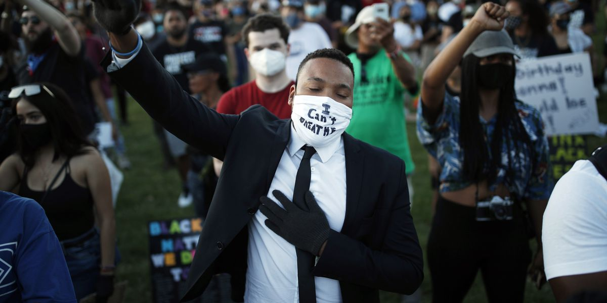Mourners hold memorial for Floyd as more protests gather