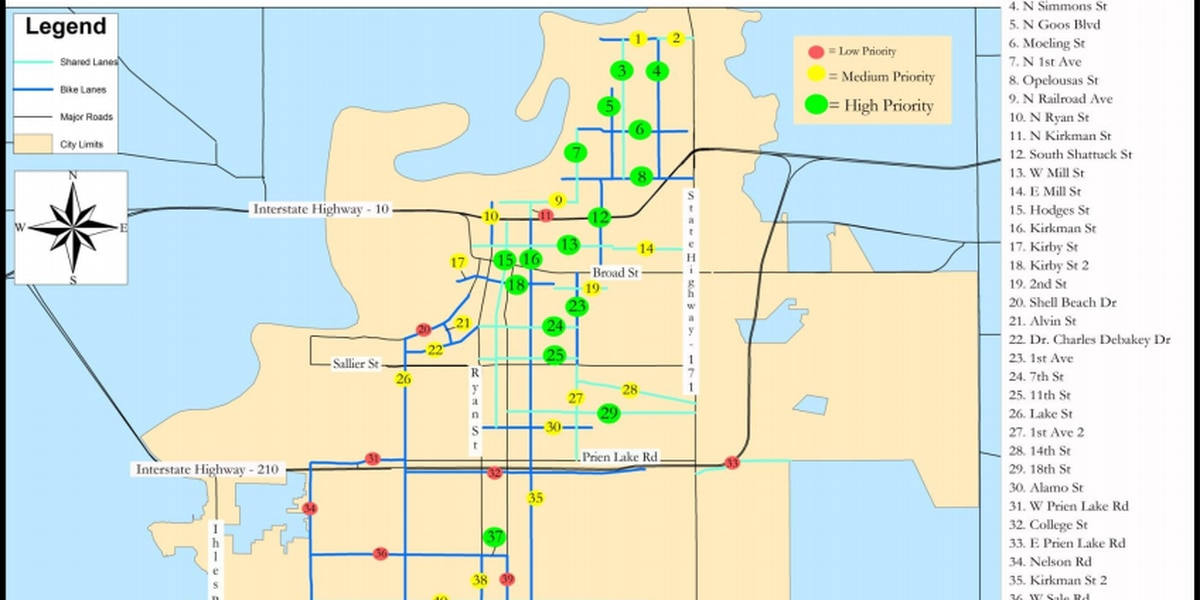 New bike lane signals change for cyclists in Lake Charles