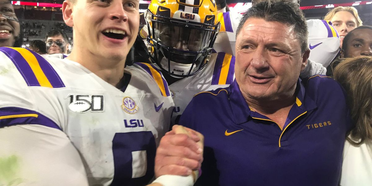 LSU moves up to No. 1 in the College Football Playoff rankings after beating Bama