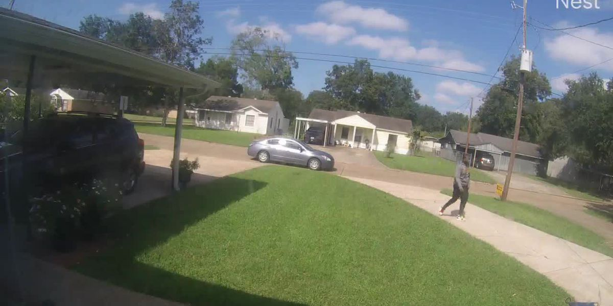 Suspect and suspect vehicle in Lake Charles jugging incident