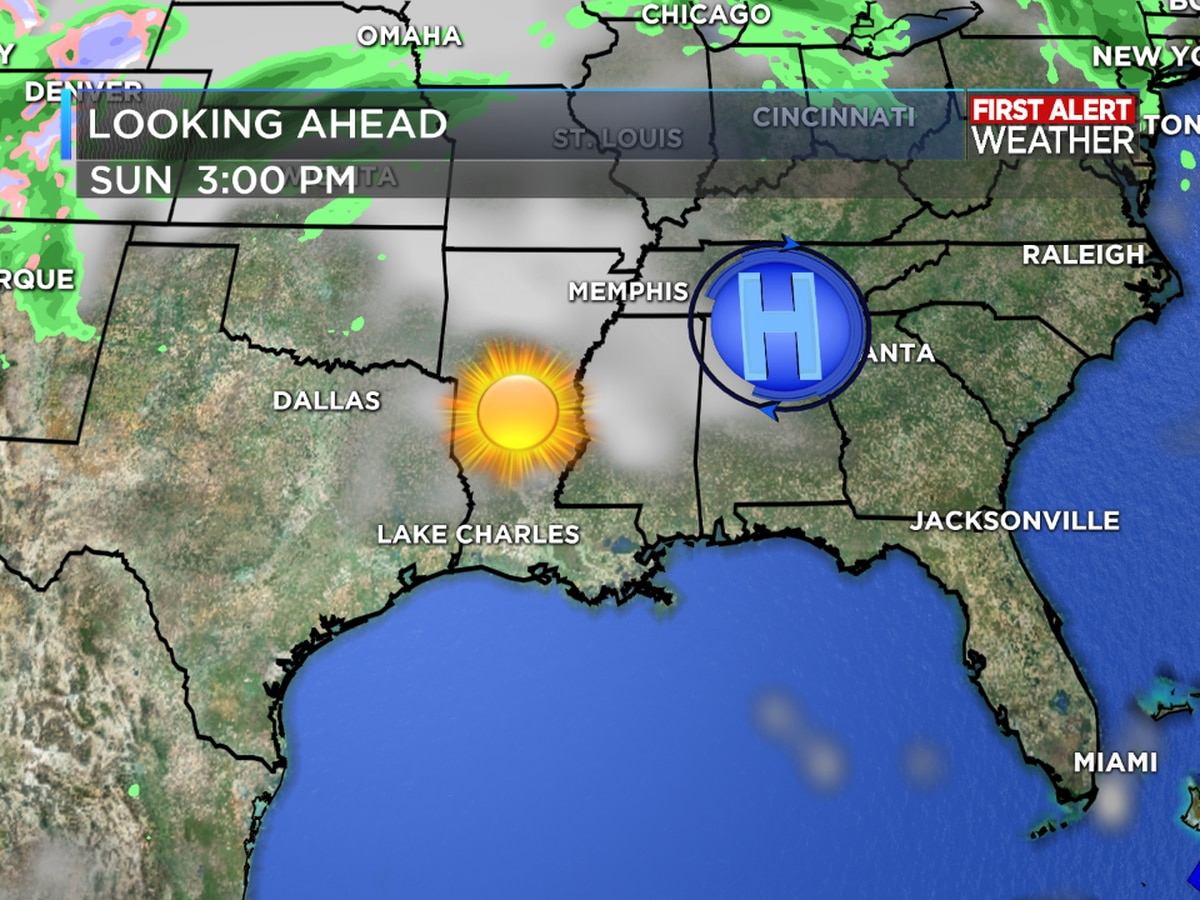 First Alert Forecast: Rain and storms on Thursday; Sunny by Easter Weekend