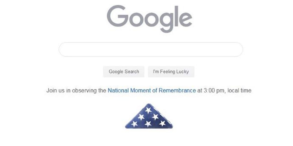 Google Doodle reminds viewers to observe the National Moment