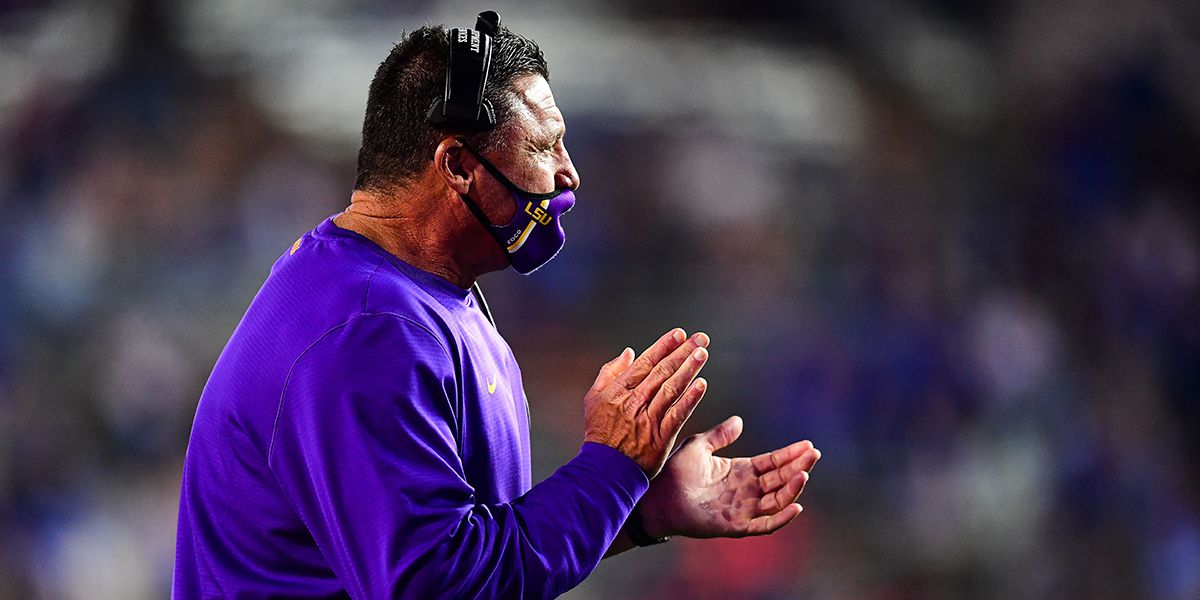 Orgeron talks big win over No. 6 Florida, Early Signing Period, respect for Lane Kiffin, and more