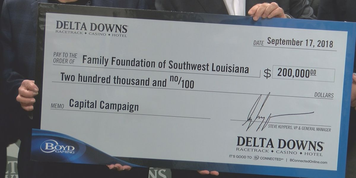Delta Downs makes largest donation ever to a Southwest Louisiana non-profit