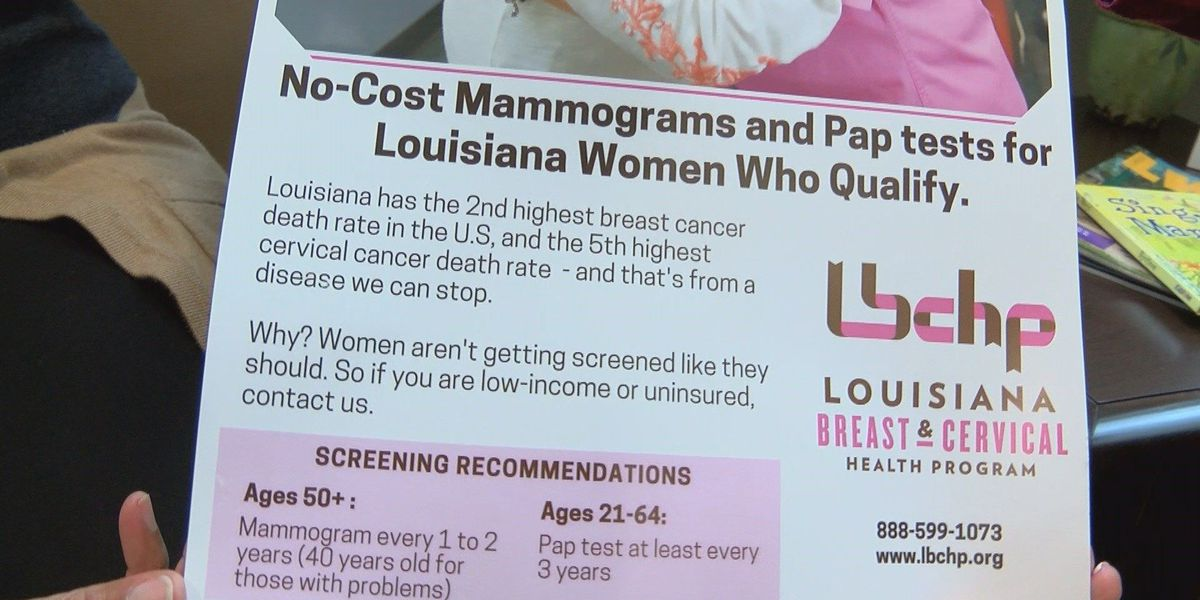 Free mammograms available to eligible Louisiana women