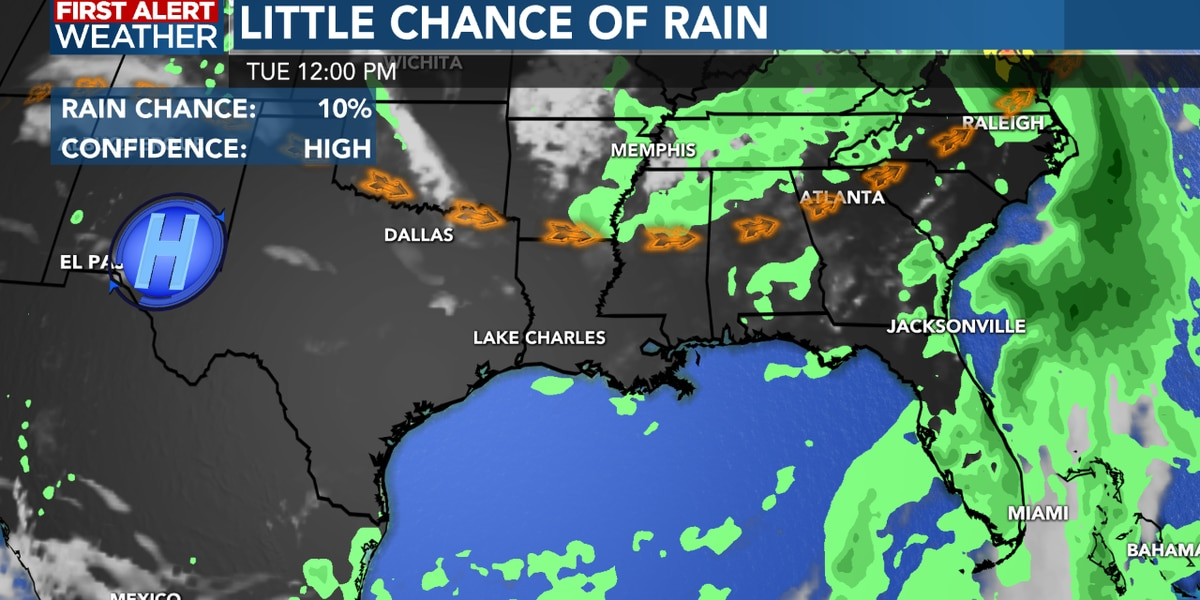 FIRST ALERT FORECAST: Drier weather pattern for the next few days…