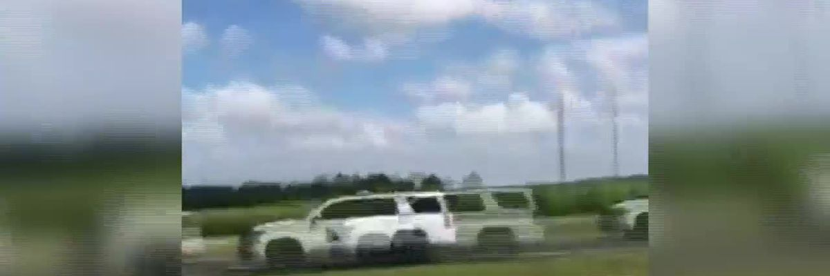 Viewer submitted video of police chase on I-10 near Welsh, La.