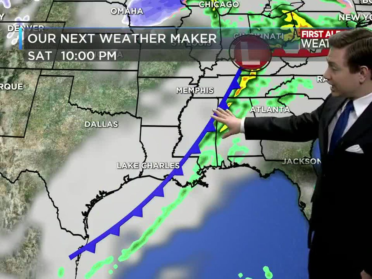 First Alert Forecast: Rain on Saturday, with a nice day on Sunday and start to next week