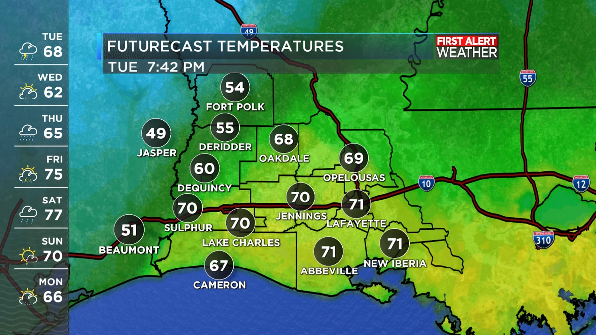 FIRST ALERT FORECAST: Rainy most of the day; warmer for some, cooler for others