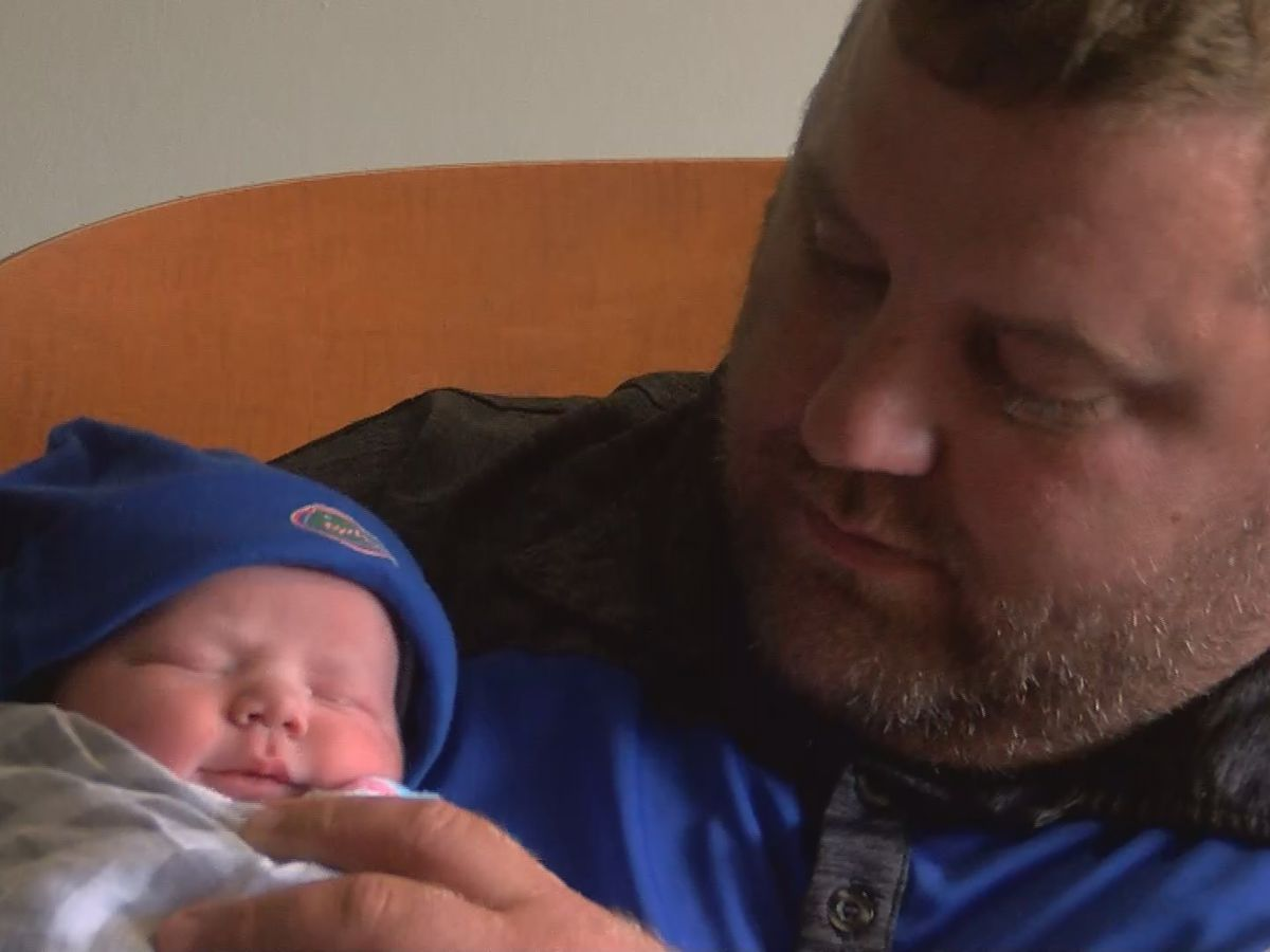 Local dad barely dodges SETX flooding to see birth of first son