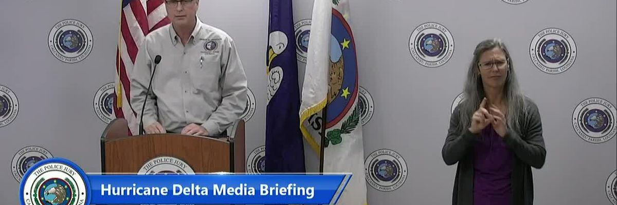 LIVE AT 4 P.M.: Calcasieu officials hold briefing on hurricane recovery