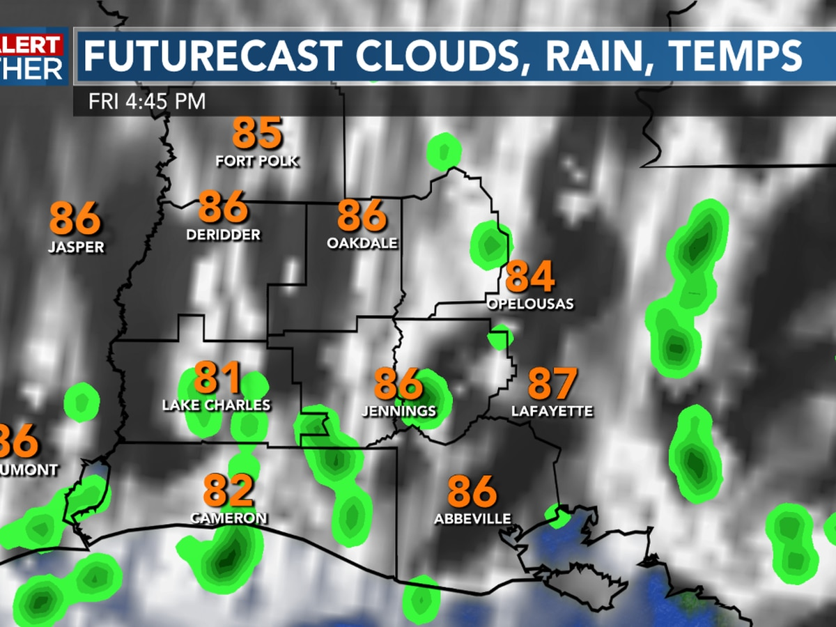 FIRST ALERT FORECAST: Fewer showers today as sunshine will make for a nice weekend ahead