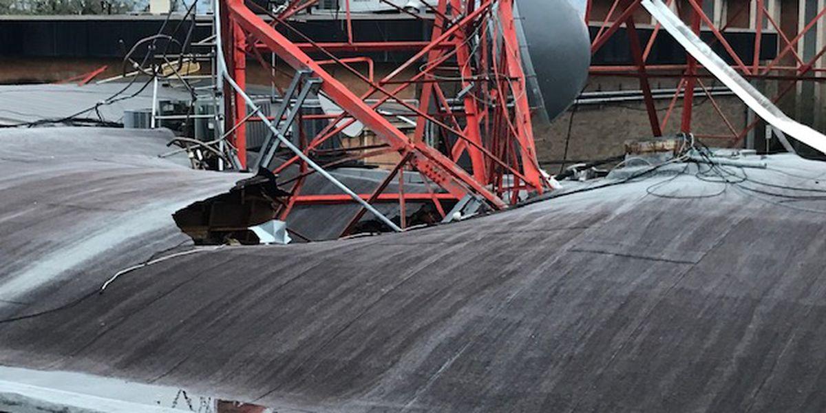 Lake Charles, La. TV station tower toppled in Hurricane Laura