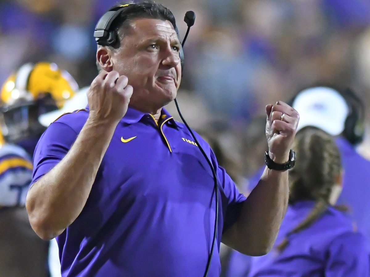 Ed Orgeron named finalist for Eddie Robinson Award