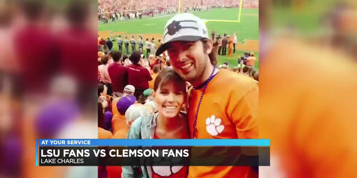 TIGERS OF A DIFFERENT STRIPE: Optometrist husband and wife rooting for alma maters in national championship