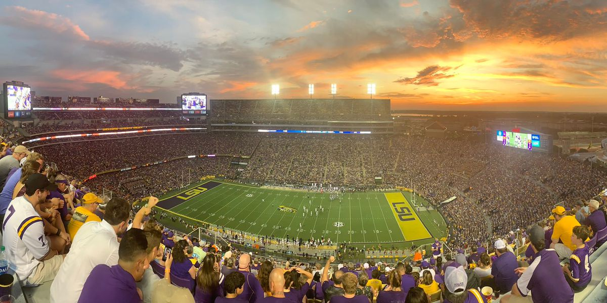 Once again LSU football was the most-watched college game on Saturday