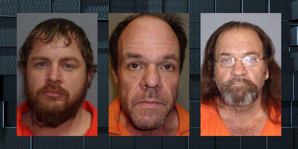 Three men arrested in connection to stolen construction machinery in Vernon Parish