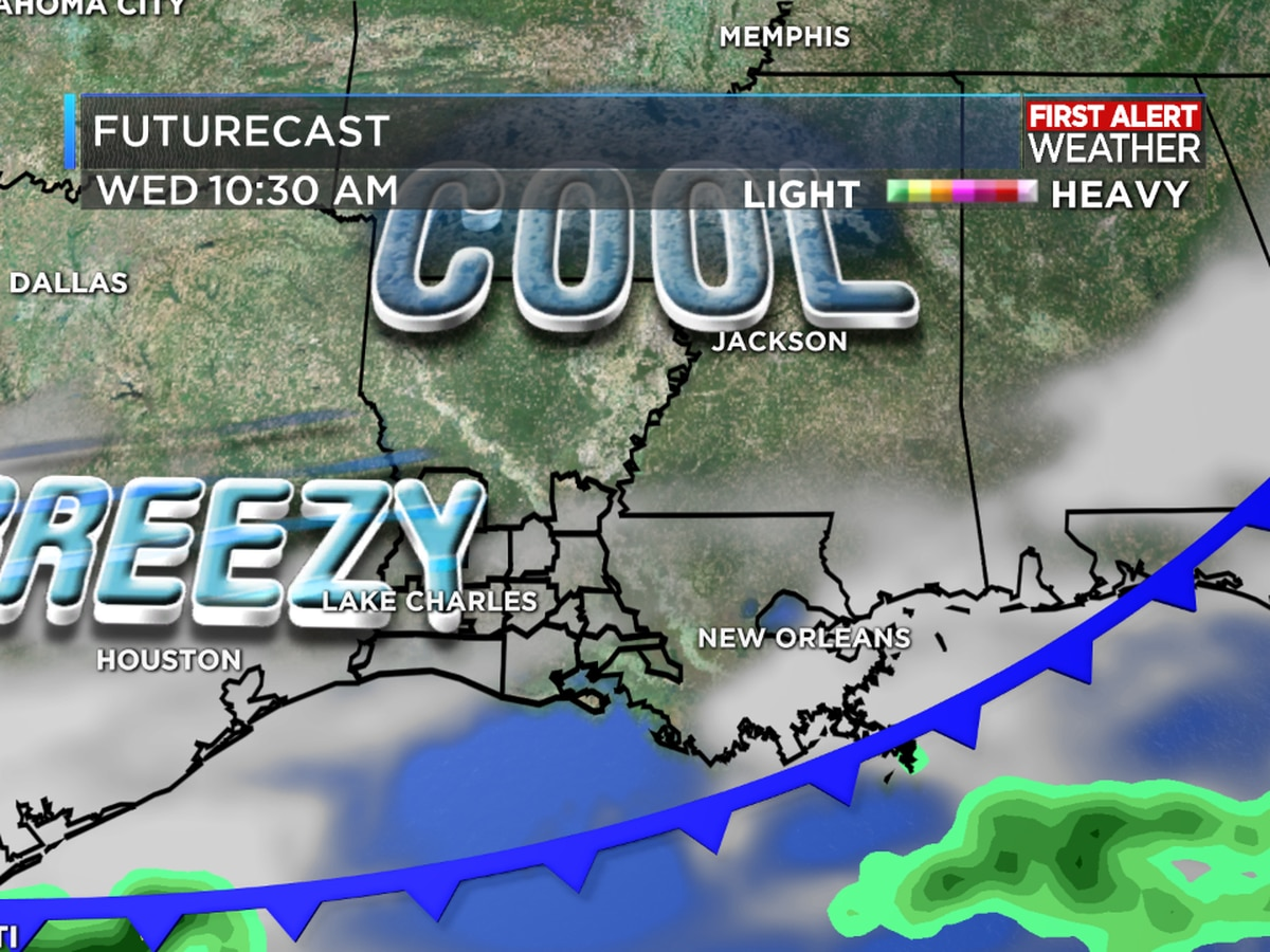 FIRST ALERT FORECAST: Stormy first half of the week with a couple cooler days returning