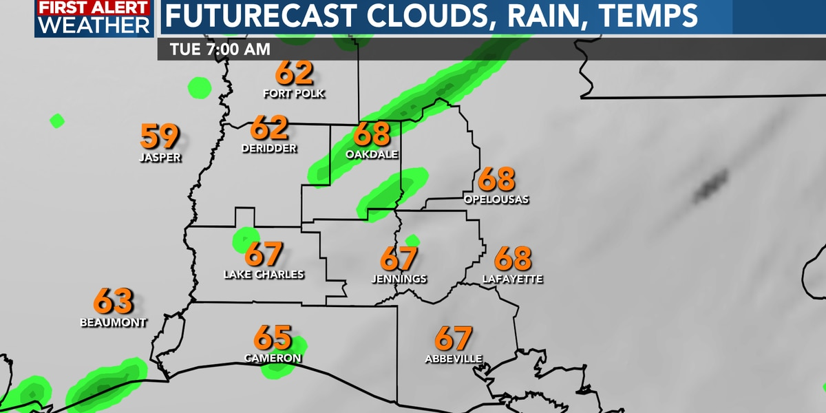 FIRST ALERT FORECAST: Off and on rain showers through the evening, with a mild night ahead