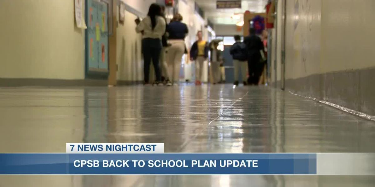 "CPSB adjusts their ""back to school"" plan"