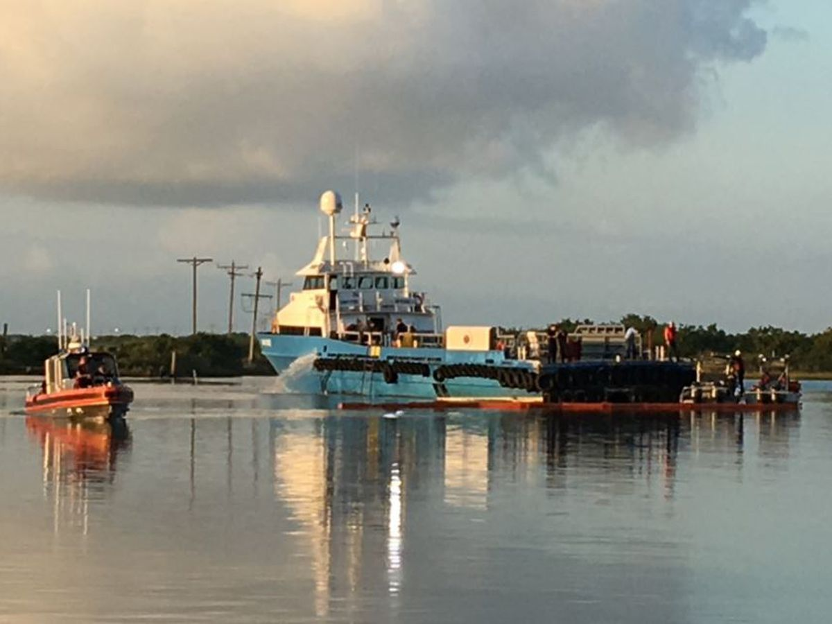 Vessel taking on water near Cameron assisted by Coast Guard