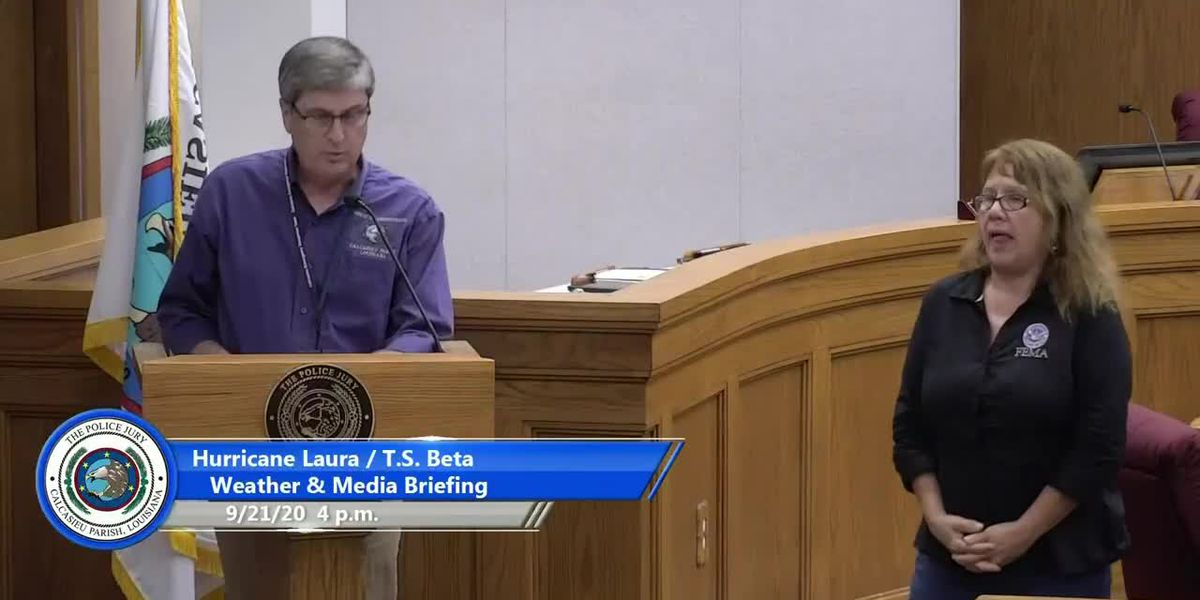 LIVE AT 4 P.M.: Calcasieu officials hold briefing on Laura, Beta