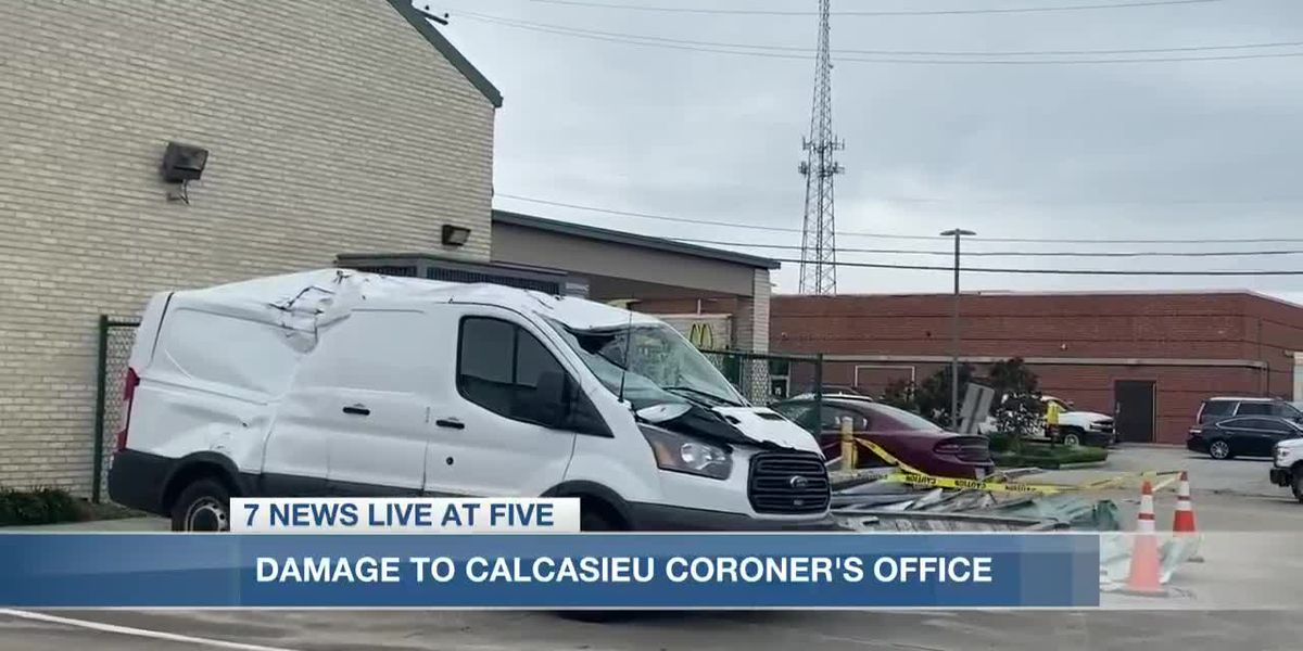 Calcasieu Coroner's Office sustains additional damage due to Hurricane Delta