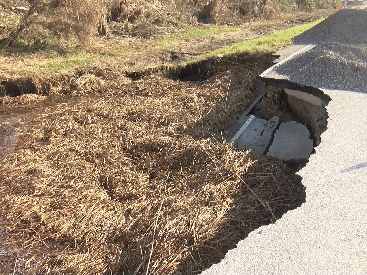 DOTD: Washed out LA 82 in Cameron Parish to remain closed