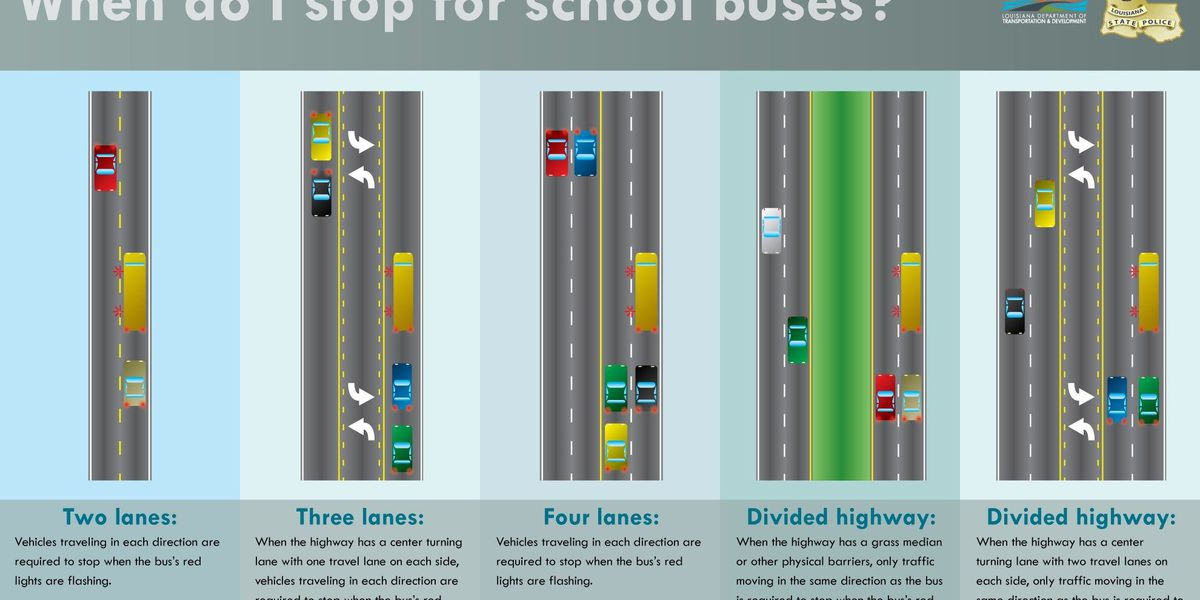 Rules for sharing the road with school buses