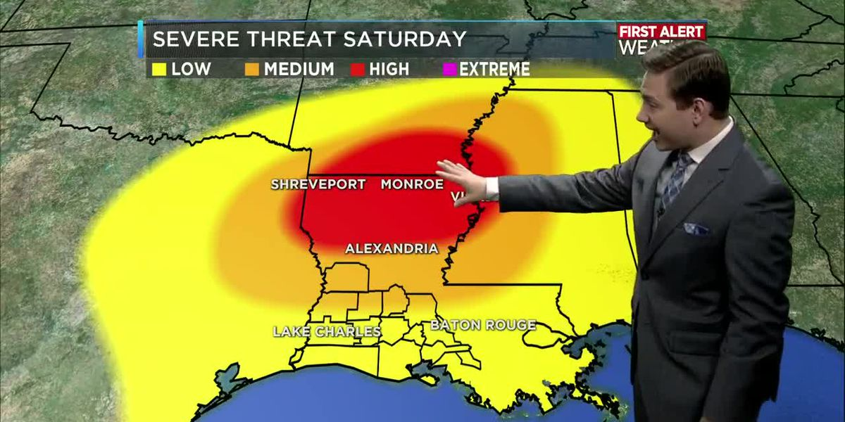 First Alert Forecast: Threat for severe weather Saturday as rain chances increase