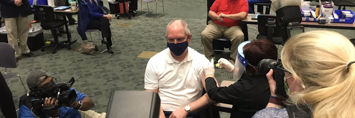Gov. Edwards to hold coronavirus briefing at 1 p.m. Tuesday; will receive second dose of vaccine
