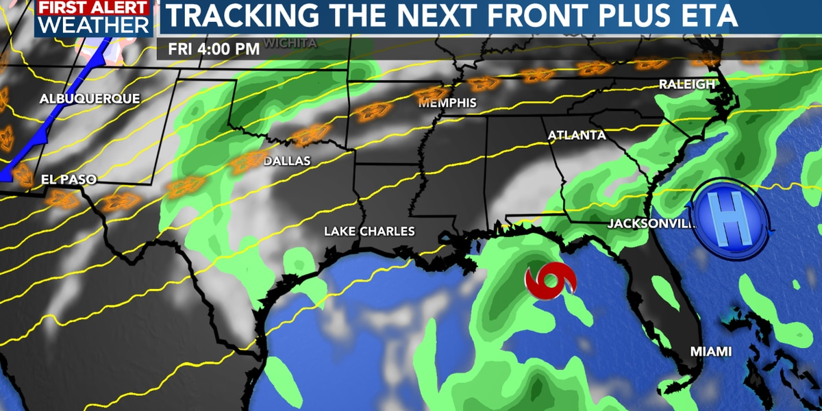 First Alert Forecast: Weak cold front arrives this week, but no real change in temperatures for a while...
