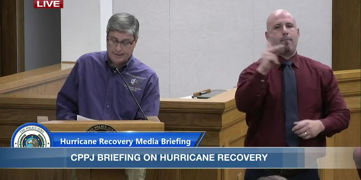 Calcasieu officials briefing on hurricane recovery - Oct. 21, 2020