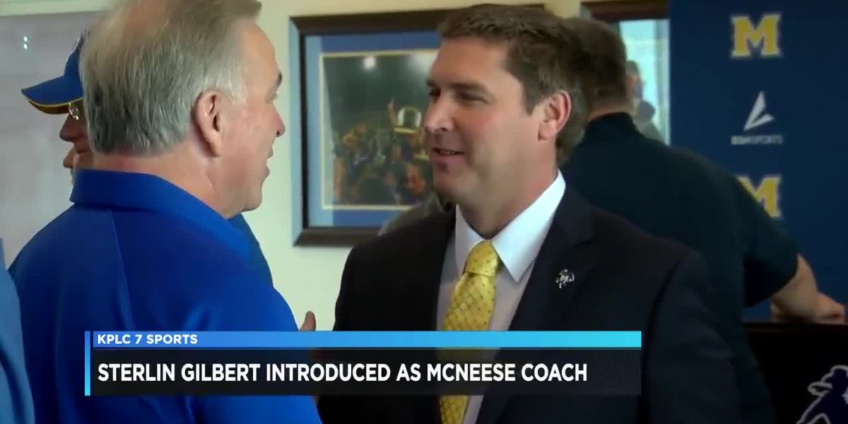 Sterlin Gilbert introduced as McNeese's new head football coach